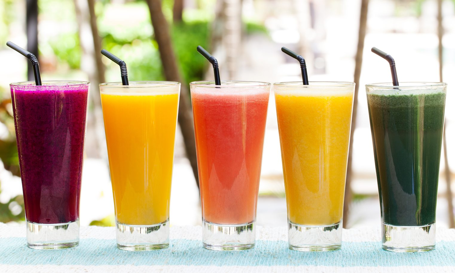 Assortment juices, smoothies, beverages, drinks variety