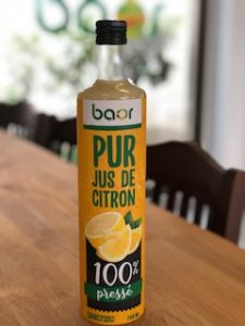 Jus de Citron pure natural