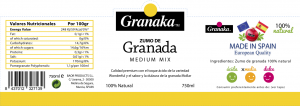Granaka mix pomegranate juice pink label